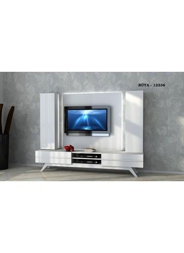 Sanal Mobilya Rüya 12336 Tv Ünitesi Beyaz Beyaz